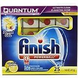 Finish Quantum Dishwasher Detergent, Lemon Sparkle Scent, 150 Count