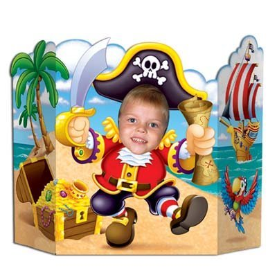 Pirate Face Cut Out (Pirate Photo Prop Party Accessory (1 count))
