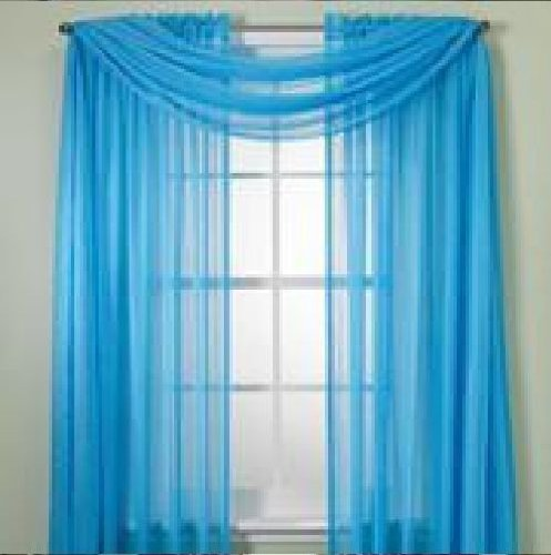 MONAGIFTS PANELS BRIGHT TURQUOISE curtains