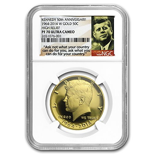 2014 W 3/4 oz Au Kennedy 1/2 Dollar Commem PF-70 NGC Gold PF70 NGC