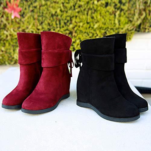 Mujer y Niña Botas otoño fashion carnaval,Sonnena ❤ Zapatos de tacón bajo de mujer con plataforma gruesa Botas de plataforma de tacón alto Mayor grosor ...