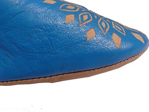 Orientalische Schuhe Babouche Hausschuhe Pantoffel Slipper aus Marokko - Damen - Gr. 41
