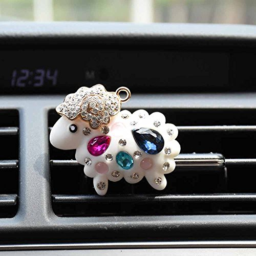 COGEEK Diamond Sheep Car Air Conditioning Outlet Clip Perfume Car Decorative