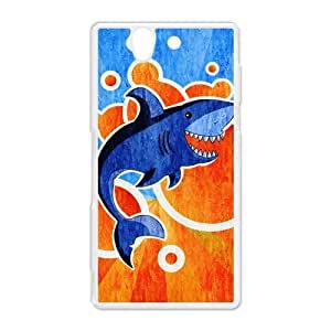 diy zhengCute Shark Underwater Sea Shark Jumping Hard Protective Plastic Back Case Cover for Sony Xperia Z Perfect as Christmas gift(5)