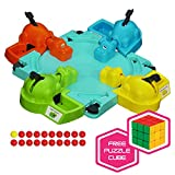 Hasbro Hungry Hungry Hippos Game with Brybelly Puzzle Cube