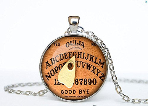 Jewelry tycoon®Halloween necklace Halloween pendant Halloween jewelry Cothic Vintage Vintage Ouija Board Pendant Antique Style Spirit World (Halloween Stores Spirit)