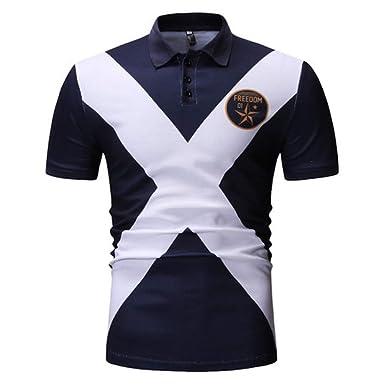 Camisa de compresión para Hombre Camisa de Polo Delgado de Moda ...