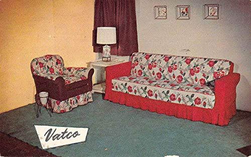 Boston Massachusetts Vatco Mfg Co Couch Cover Advertising Postcard JA4741772