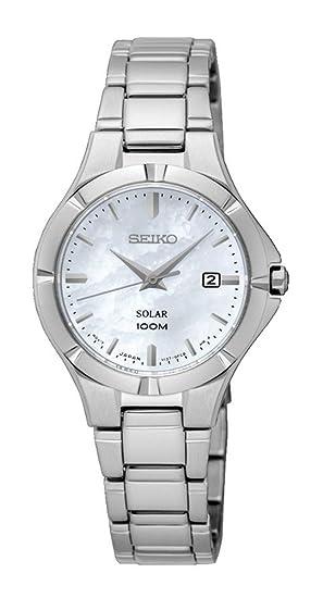 Seiko Reloj Analogico para Mujer de Energía Solar con Correa en Acero Inoxidable SUT293P1: Seiko: Amazon.es: Relojes