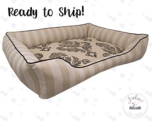 X-Large French Country Dog Bed - Washable Reversible
