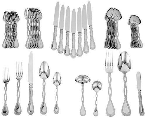 Ricci Regale Satin 45-Piece Stainless-Steel Flatware Set, Service for 8 (Regal Stainless)