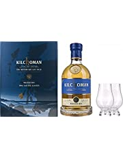Coffret Whisky Kilchoman Islay Machir Bay Single Malt Scotch Whisky - Coffret avec 2 Verres 700 ml