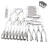 DDP DENTAL EXTRACTION PRO FORCEPS ELEVATORS PLIERS CURETTES PROBES FORCEPS SCALERS FILLING 50 PIECES INSTRUMENTS