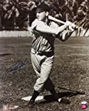 Ralph Kiner Autographed 16x20 BW With Bat Photo- JSA Authenticated