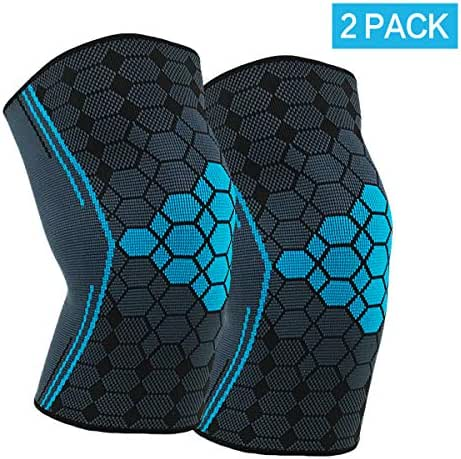 (2 Packs) Knee Brace, Knee Compression Sleeve Support for Running,Fitness, Basketball,Volleyball, Relieve Muscle Damage,Treatment of meniscus injury,Tendonitis,Arthritis