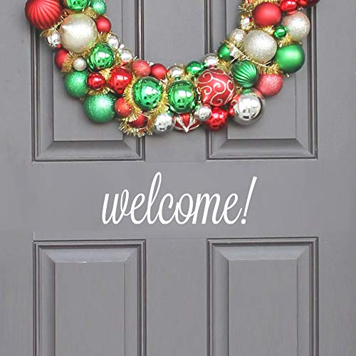 FimKaul Hello Howdy Welcome Good Bye Home Wall Art Home Decor Stickers Door Stickers (Welcome White)