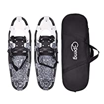 Gpeng All Terrain Snowshoes Snow Shoes for Men Women Youth Kids,Lightweight Aluminum Alloy Snowshoes + Free Carrying Tote Bag 14/21/25/27/30