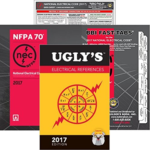 2017 NFPA 70 National Electrical Code, NEC, Paperback, NEC Fast Tabs, Quick Card and Ugly's Electrical References, 2017 Edition, Package by NEC