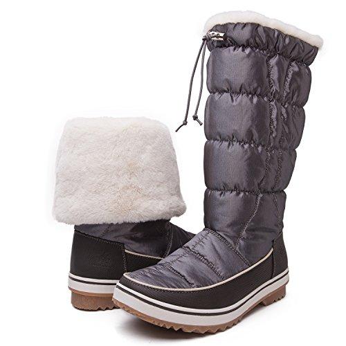 GLOBALWIN's Women's Adeline Winter Snow Boots 1713 Grey