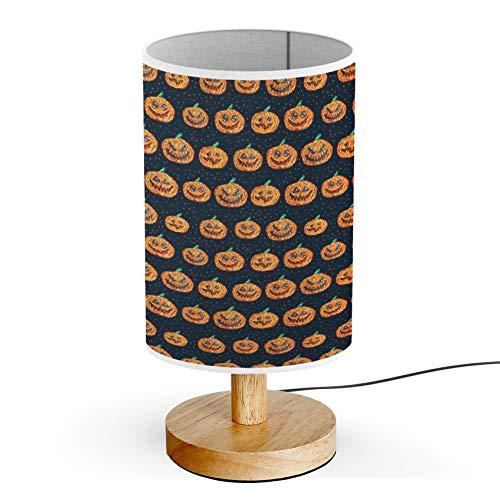ARTSYLAMP - Wood Base Decoration Desk Table Bedside Light Lamp [ Halloween Pixel Art ]]()