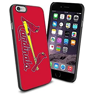 MLB ST Louis Cardinals Baseball, Cool iPhone 6 Smartphone Case Cover Collector iPhone TPU Rubber Case Black