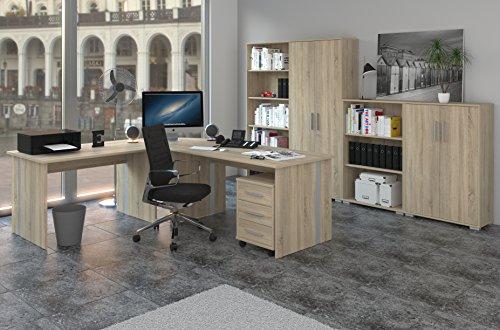 Büromöbel Set, Arbeitszimmer Phoenix 8-teilig Dekor Sonoma-Eiche