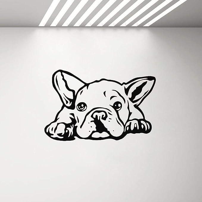 zzlfn3lv Bulldog Vinilo Pared calcomanía Sala decoración Cachorro ...