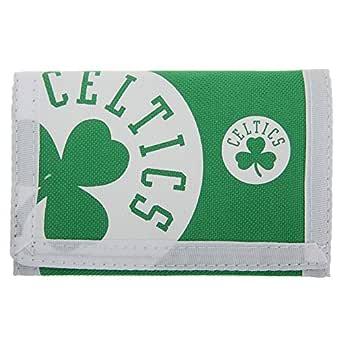 Boston Celtics - Billetera/Monedero/Cartera de tela con velcro oficial para hombre/caballero - NBA