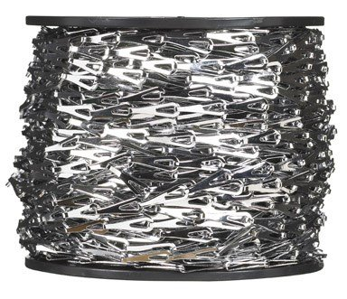 Chrome Chain Reel - Campbell 0710227 Hobby and Craft Sash Chain, Chrome Plated, #2 Trade, 0.016