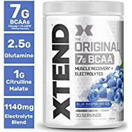 Scivation Xtend BCAA Powder, Branched Chain Amino Acids, BCAAs, Blue Raspberry Ice, 30 Servings