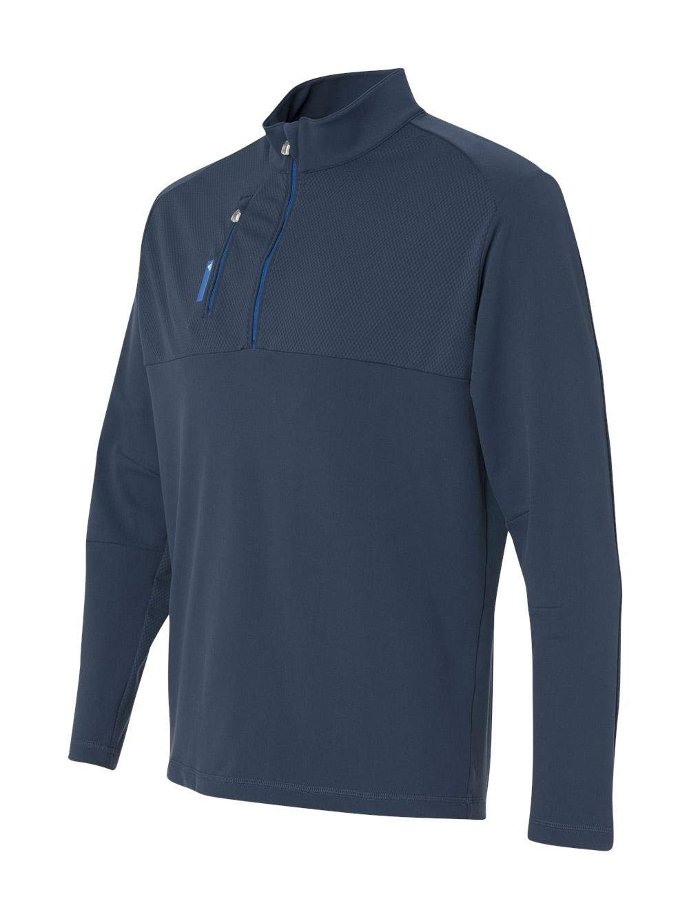 adidas Golf Mens Puremotion Mixed Media Quarter-Zip (A195) -Rich Blue/ -S