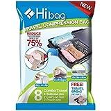 10pcs x Premium Vacuum Sealer Bag Compression Storage Bags for Suitcases - No Vacuum Needed - (29x30cm/2pcs,38x54cm/4pcs,50x70cm/4pcs)