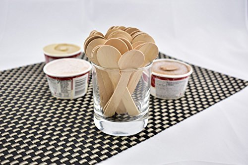 Gmark Eco-Friendly 4'' Mini Wooden Spoons 200 ct, Biodegradable Compostable Birchwood (200pcs/bag) GM1042 by Gmark (Image #9)