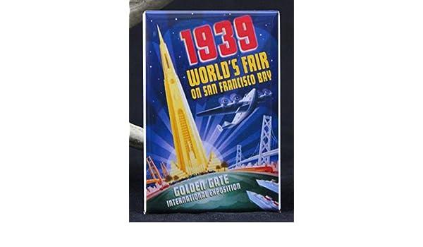 "1939 San Francisco World/'s Fair Poster 2/"" X 3/"" Fridge Magnet."