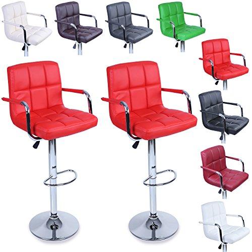 360°Hauteur Et Tresko® Lounge De 2 Chaise Lot DifférentesChroméRotation À Tabourets Bar Avec Couleurs Dossier Accoudoir8 erdCxoB