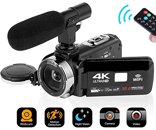 4K Video Camera Camcorder Digita...