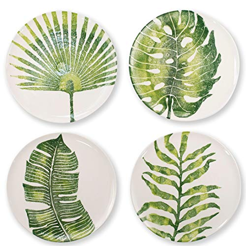 Vietri Into the Jungle Assorted Dinner Plates - Set of 4