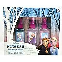 Frozen, Disney, Elsa, and Anna, Three-Piece, Body Spray, 1.7oz, 50ml, Fragrance, Set, for, Girls, Made in Spain, by Air Val International