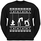 Stripper Silhoutte Ugly Christmas Sweater Black Adult Sweatshirt - X-Large