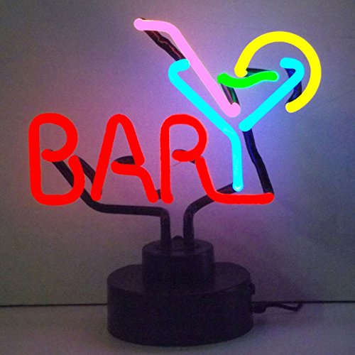Neonetics Business Signs Bar with Martini Neon Sign Sculpture (Sculpture Bar Neon)