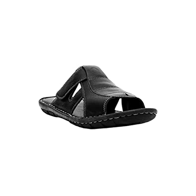 cc7f0fe19bc5 Ventoland Men s Black Leather Sandals  Buy Online at Low Prices in India -  Amazon.in