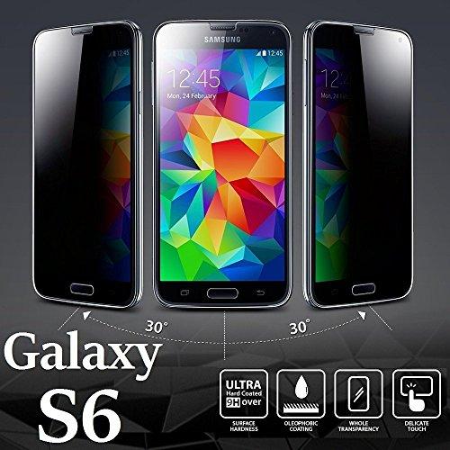Josi Minea [ Samsung Galaxy S6 ] Privacy Tempered Glass Ballistic LCD Anti-Spy Screen Protector Film Crystal Clear Cover Screen Guard Premium HD Shield for Samsung Galaxy S6 / SVI (Lcd Tempered Glass)