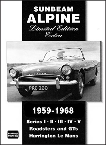 Sunbeam Alpine Limited Edition Extra 1959-1968 (Brooklands Books Road Test Series) by R.M. Clarke (Illustrated, 1 Mar 2005) Paperback (Sunbeam Series Alpine)
