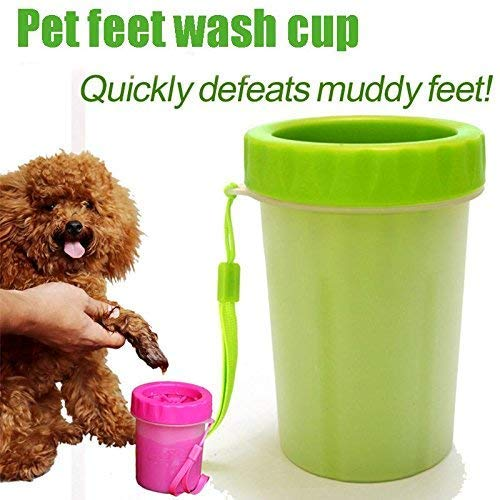 24x7 eMall Large Breeds Portable Pet Paw Cleaner/Washer Durable Cleaning Cup with Silicone Bristles (B07CJK3FV3) Amazon Price History, Amazon Price Tracker