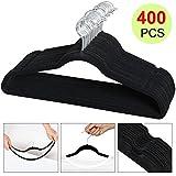 Yaheetech Velvet Clothes Hanger (400PCS, Black)