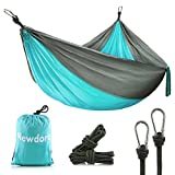 Newdora Camping Hammock - Lightweight Nylon Portable Hammock, Best Parachute Double Hammock for Backpacking, Camping, Travel, Beach, Yard. 105