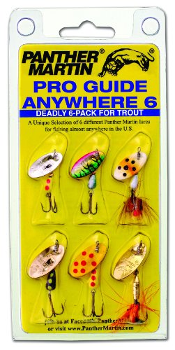 Trout Fishing Spinners - Panther Martin Pro Guide Anywhere 6 Pack