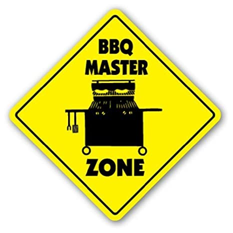 Quote Sign de aluminio barbacoa Master Zone Sign Novelty ...