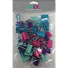 """Office Depot Binder Clips, Small, 3/4"""" Wide, 3/8"""" Capacity, Mixed Colors, Pack Of 36"""