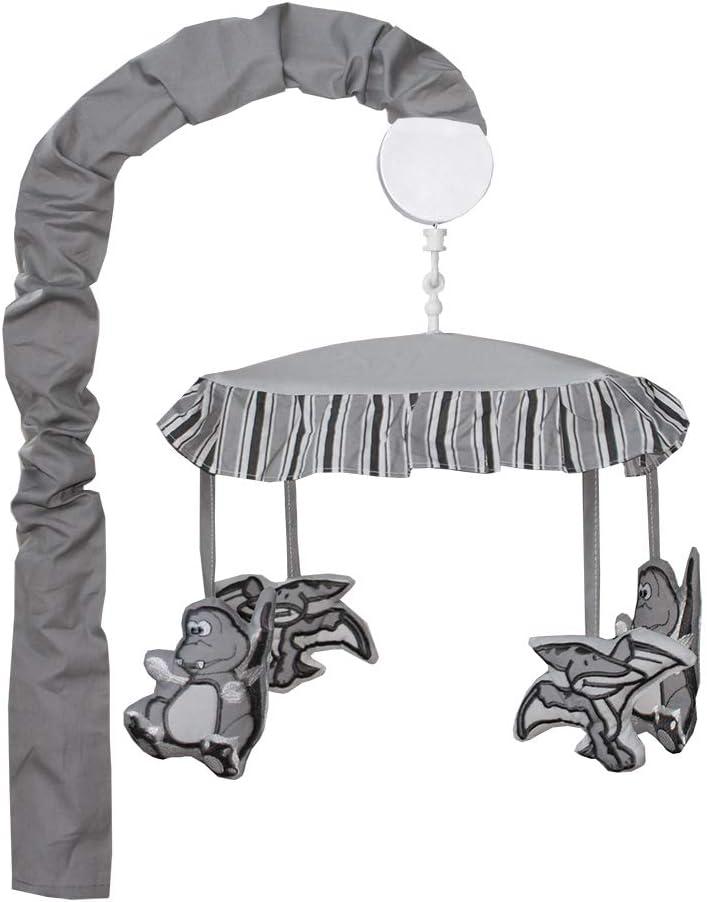 BabyFad Dinosaur Grey 10 Piece Baby Crib Bedding Set